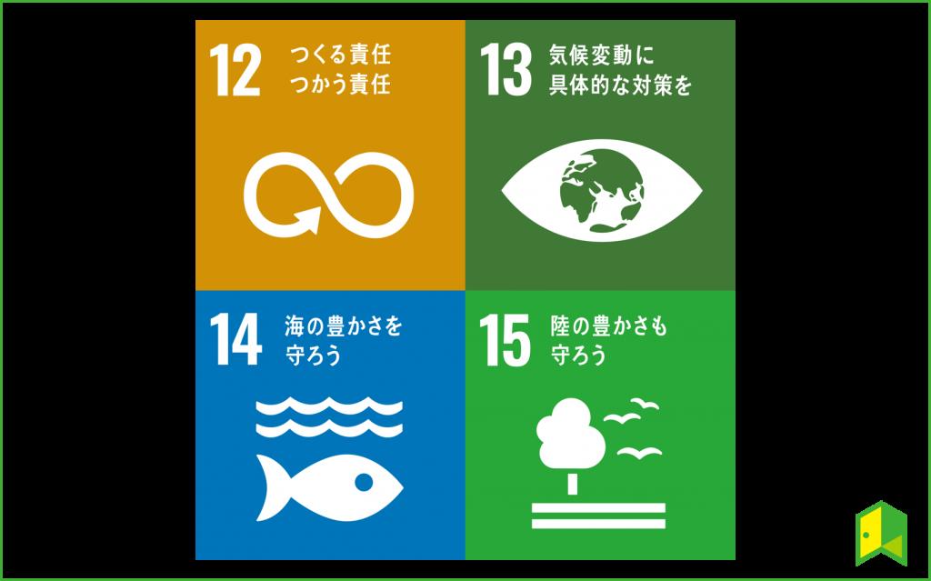 SDGsの目標12から15
