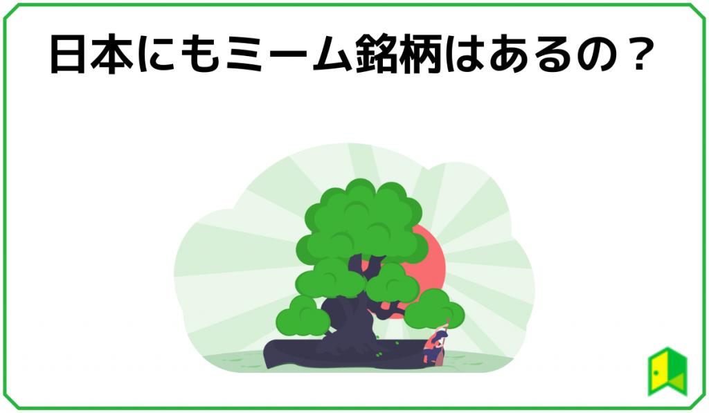 日本にもミーム銘柄はあるの?
